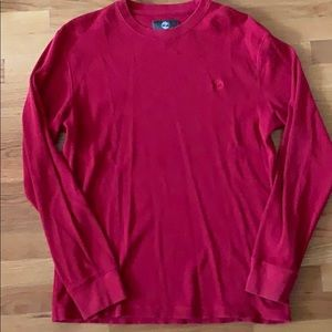 Red Timberland thermal shirt, size Medium